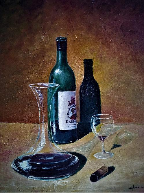 Bouteille-&-carafe-Patrice-Bru-artiste-peintre-figuratif
