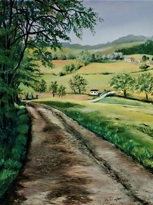 Chemin-dans-la-campagne-Patrice-Bru-peintre-figuratif