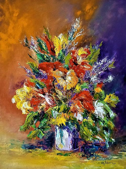 www.patricebrupeintre32.com/artiste-peintre-figuratif/Vase de fleurs