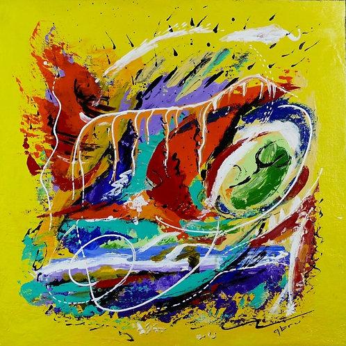 Abstrait-jaune-Patrice-Bru-artiste-peintre-abstrait-Occitanie