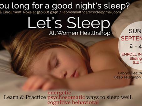 SUN. SEP. 8 - LET'S SLEEP - WOMEN'S HEALTHSHOP
