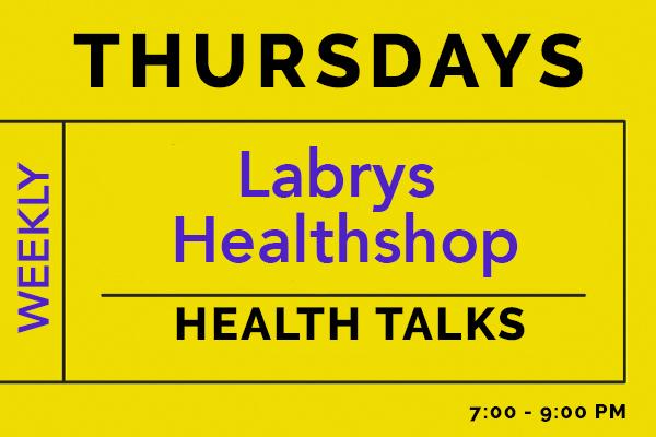 Labrys Healthshop on Thursdays