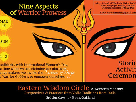 3/15 Sun   March Eastern Wisdom Circle (Come or Zoom in)
