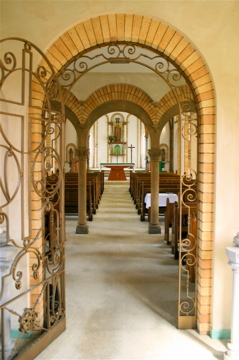Chapel from the arch entrance
