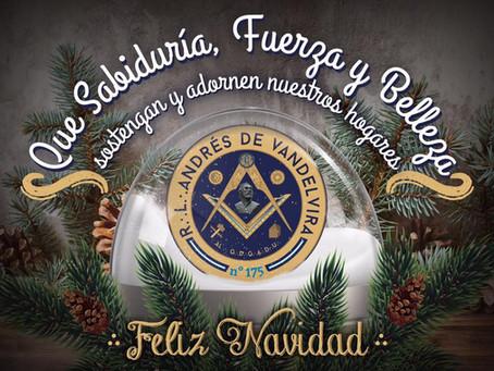 La Logia Andrés de Vandelvira os desea una Feliz Navidad.