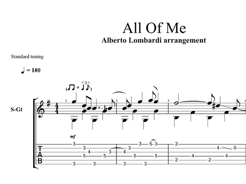 All Of Me | TAB + score