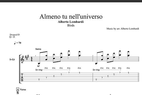Almeno tu nell'universo | TAB + score