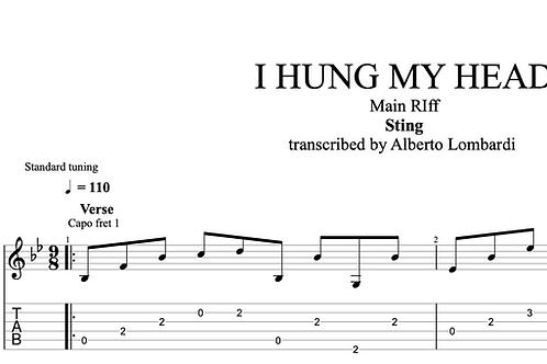 I Hung My Head | TAB + score