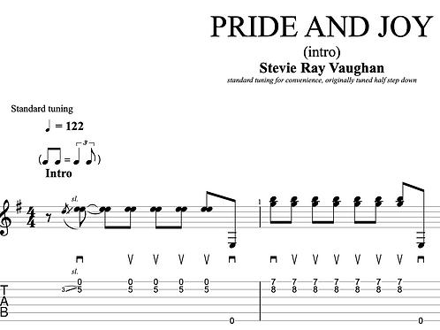 Pride and Joy (SRV)  | TAB + score