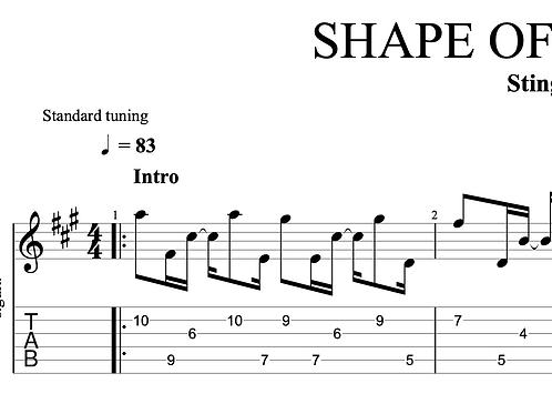 Shape of my Heart (Sting)  | TAB + score
