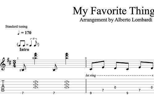 My Favorite Things  | TAB + score