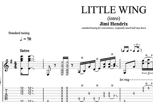 Little Wing (Hendrix)  | TAB + score