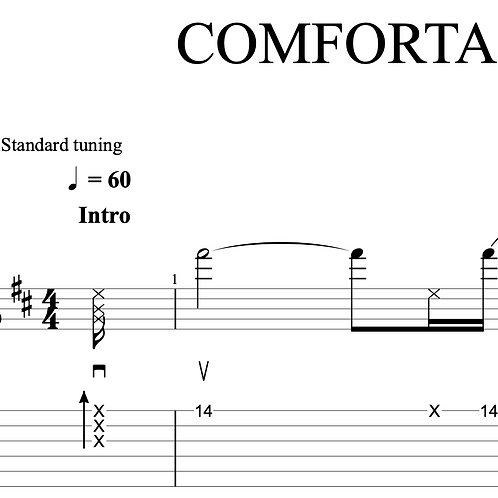 COMFORTABLY NUMB - 1st solo (Pink Floyd)    TAB + score