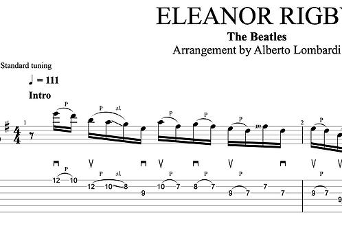 ELEANOR RIGBY   TAB + score
