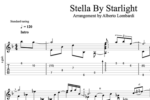 Stella by Starlight | TAB + score