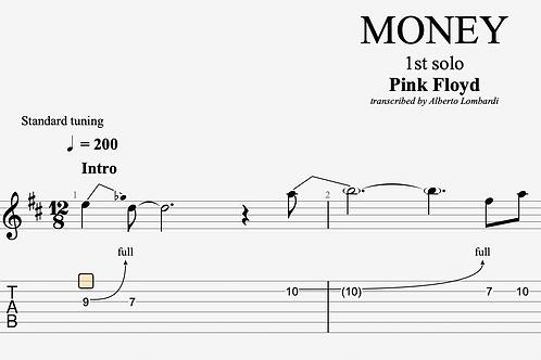 MONEY (Pink Floyd)  | TAB + score