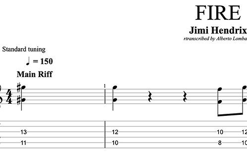 FIRE (Jimi Hendrix)  | TAB + score
