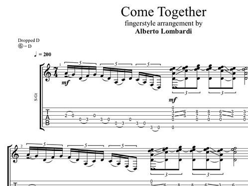Come Together | TAB + score