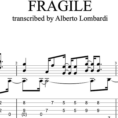 Fragile (Sting)  | TAB + score