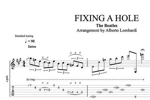 Fixing a Hole (The Beatles)  | TAB + score