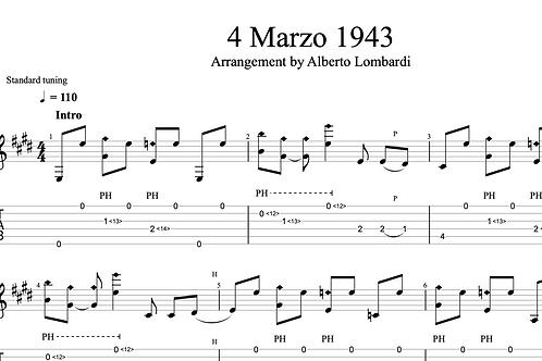 4 Marzo 1943  | TAB + score