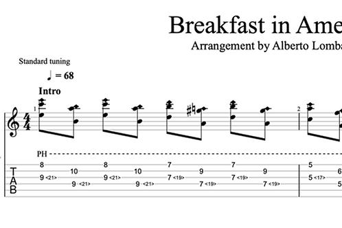 Breakfast in America  | TAB + score