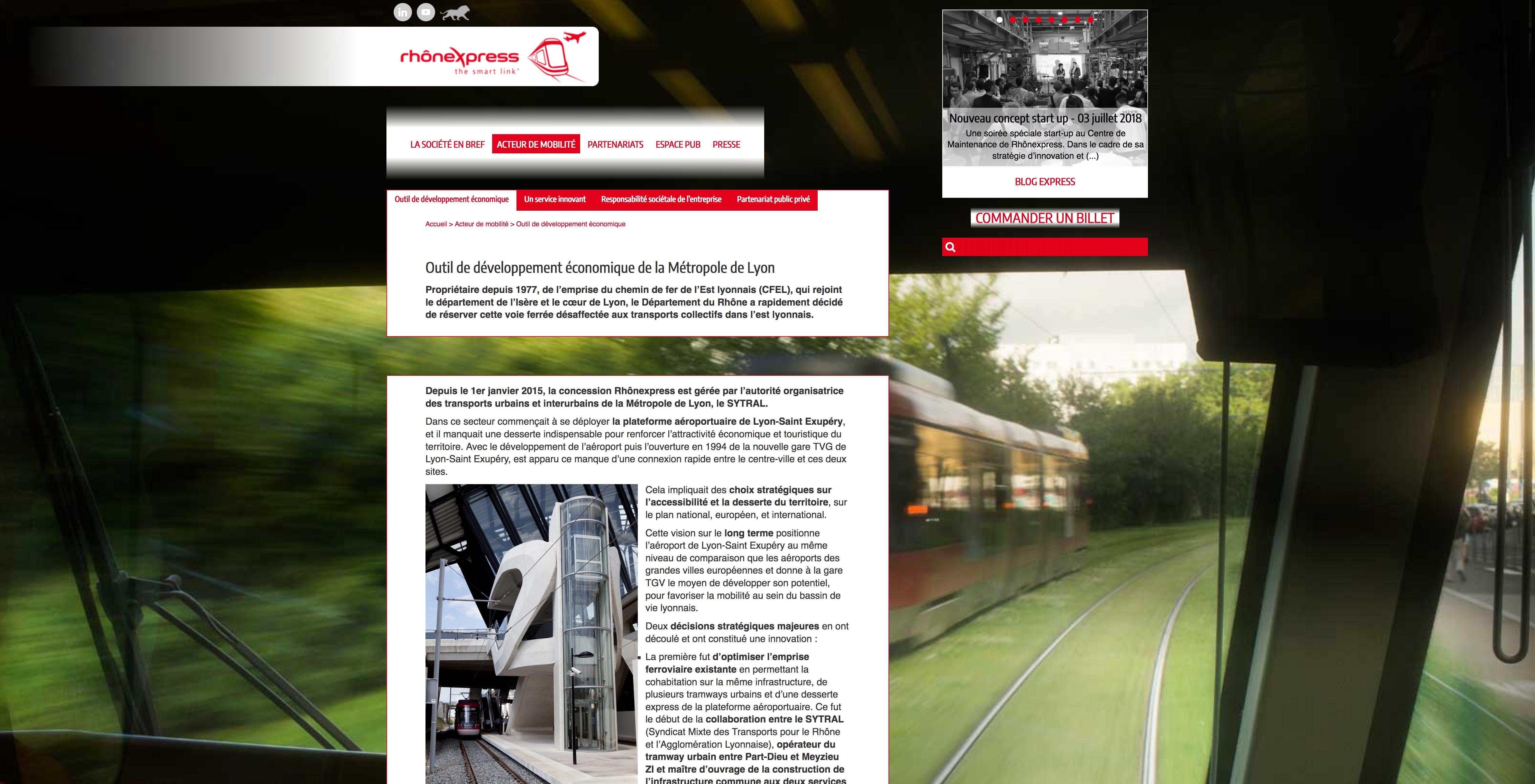 Site Rhônexpress
