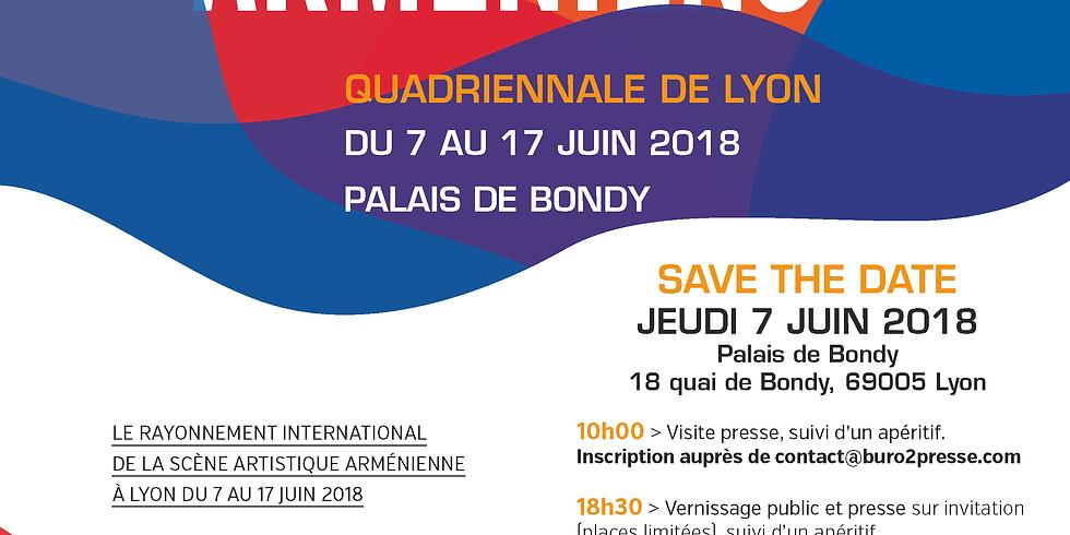 Invitation Presse Salon International des Artistes Arméniens, la Quadriennale de Lyon