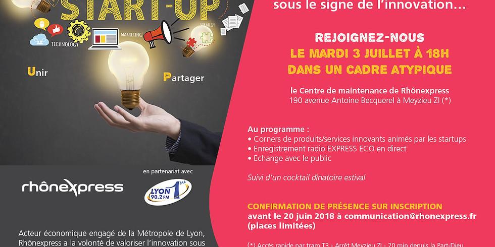 Invitation Presse & Start up - Rhônexpress : Mardi 3 juillet à 18h