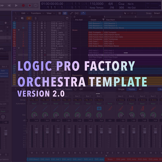 Logic Pro Factory Orchestra Template