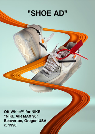"""Off-White"" shoe ad"