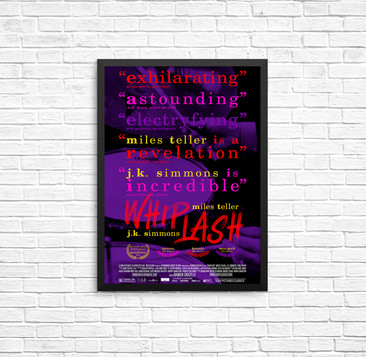 """Whiplash"" - Movie Poster Re-design"