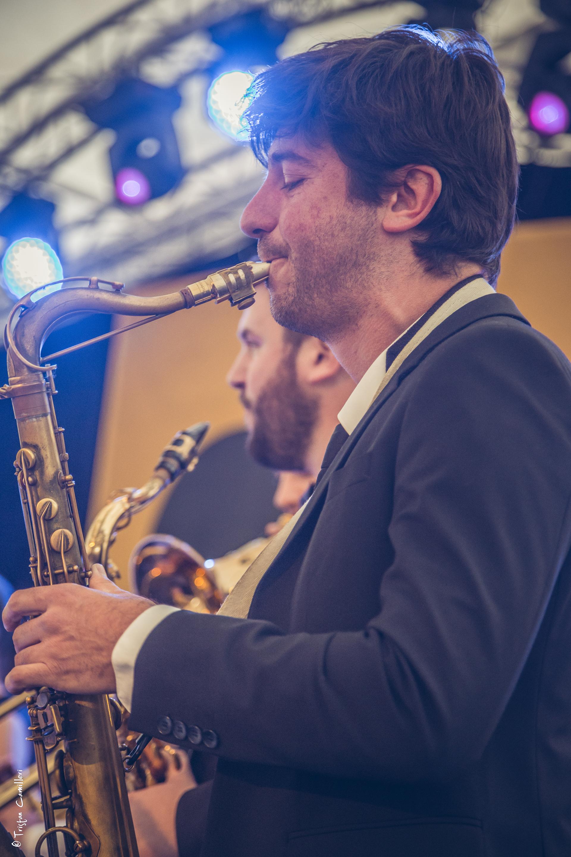 saxophoniste vintage swing
