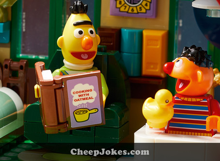 New Release: When Your Mate Reads Recipes While You Bathe - LEGO 21324 - 123 Sesame Street