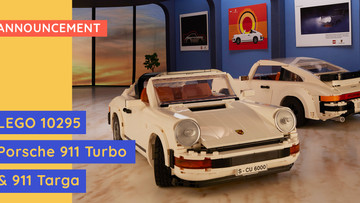 New LEGO 10295 - Porsche 911 Turbo & 911 Targa - Plus Exclusive Gift With Purchase!
