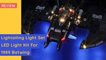 Review: LED Light Kit By Lightailing For LEGO 76161 Batwing