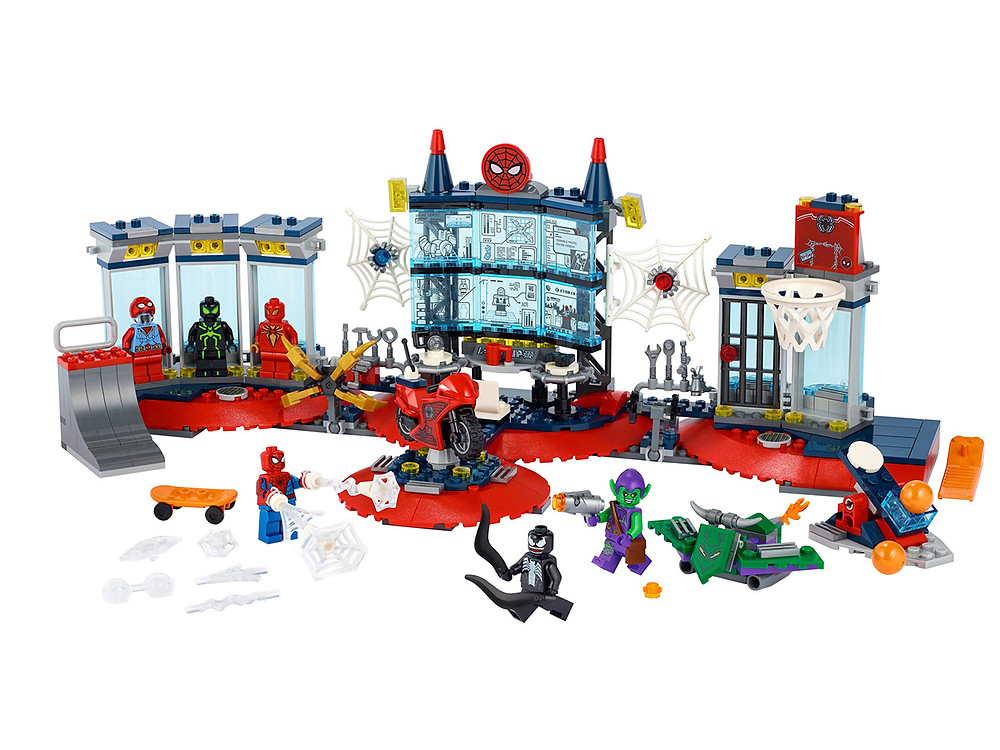 The stunning LEGO® Marvel Spider-Man Attack on the Spider Lair (76175) is the first LEGO version of the superhero's awesome HQ – part high-tech headquarters and part super-cool teenager's room!