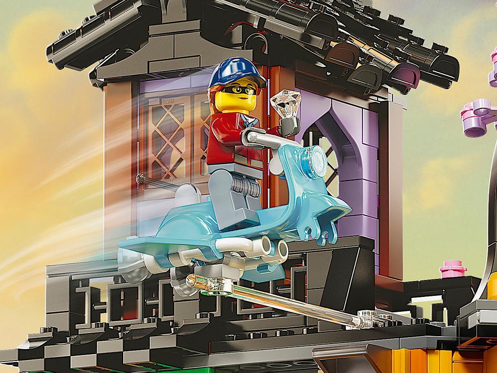 LEGO 71741 - Ninjago Gardens - Spectacular NINJAGO® City Gardens (71741) 5-tiered ninja house model to build and play with, or display to celebrate the 10th anniversary of the NINJAGO world.