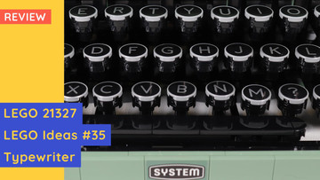 Technically Mind-Blowing! LEGO 21327 - LEGO Ideas #35 Typewriter Review
