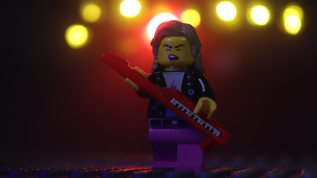 Musician with Keytar