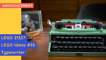 New LEGO 21327 - LEGO Ideas #35 - Typewriter Announcement