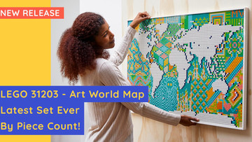 LEGO 31203 - Art World Map - Most Pieces Ever In A Set!