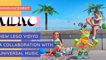 Announcement: LEGO & Universal Music Announce VIDIYO - A New Music Video Maker Experience