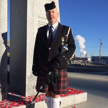 Shane Dehod - Member of the Prince George Pipeband