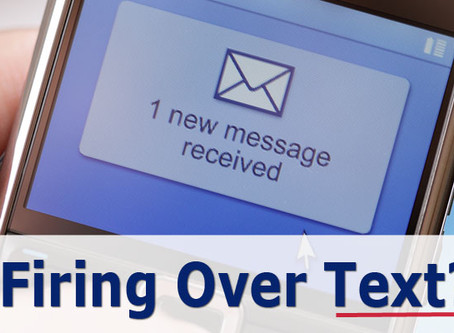 Firing Over Text? [Article]