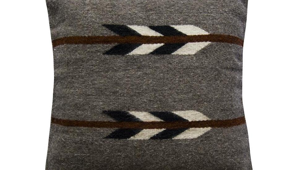 Native American Pillow Cover, Gray Arrow Pillow