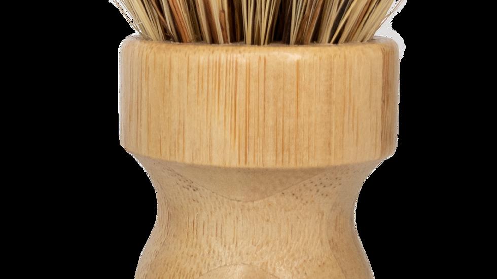 Coconut Mini Scrub Brush Bamboo Dish Scrubber