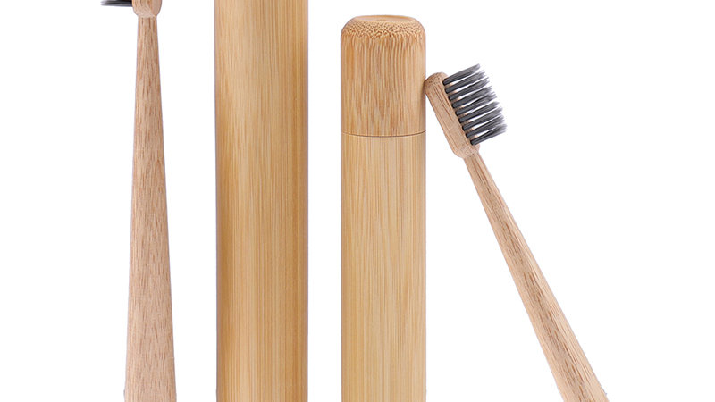 Natural Bamboo Toothbrush Portable Soft Hair With Storage Box Eco Friendly