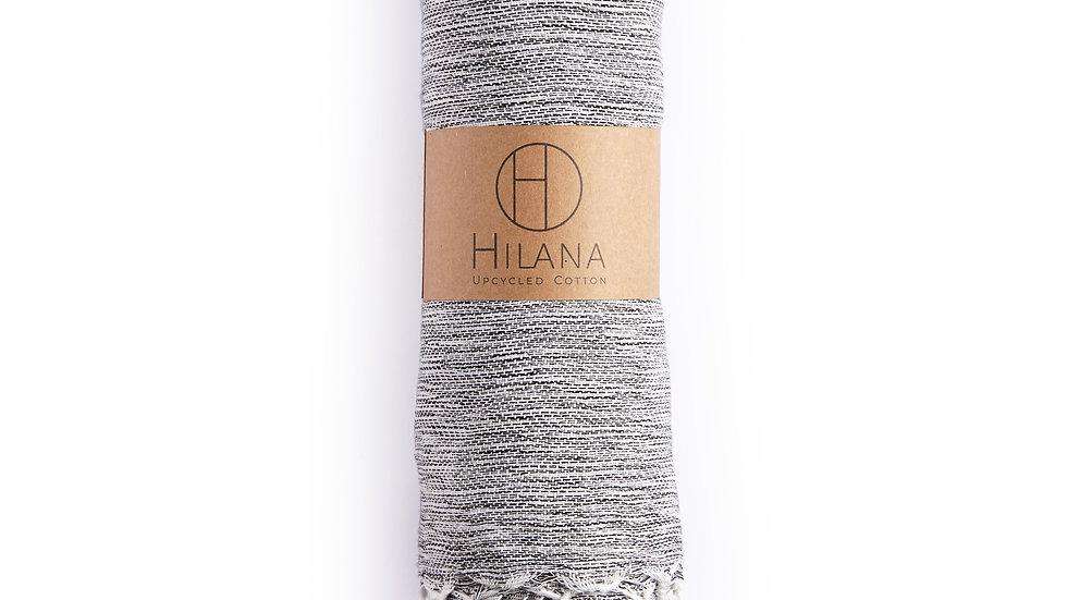 Yalova Ultra Soft Marbled Blanket Throw Black
