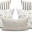 Thumbnail: White Bride Stripe on Natural Linen Lumbar